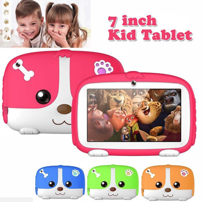 """Kids 7"""" Tablet PC Bluetooth Education Android 4.4 Quad Core 1G+8GB WiFi Camera"""