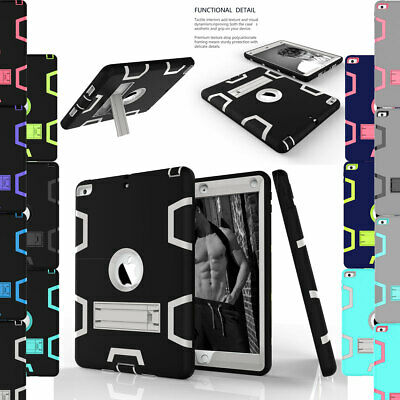 For Apple iPad 9.7 2018 6th 5th Gen Shockproof Hybrid Bumper Stand Case Cover