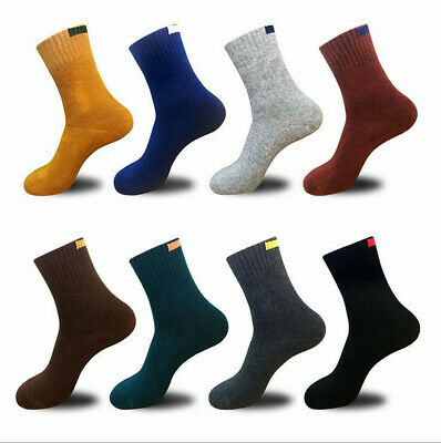 10 Pairs Women/Men Warm Cotton Socks Solid Color Business Casual Sports Socks