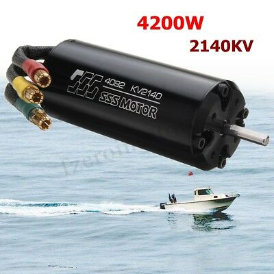 SSS 4092 / 2140KV Brushless Motor 4 Poles W/O For RC Marine Fast Boats Surfboard