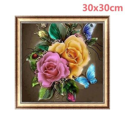 Flowers 5D Diamond Painting Butterfly & Ladybug Embroidery DIY Gift Decor VT5