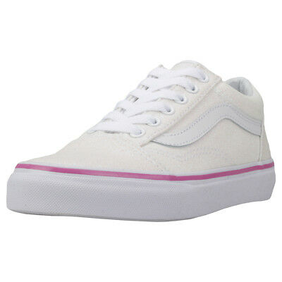 Vans Old Skool Glitter Cream Pink Sneaker Trainer
