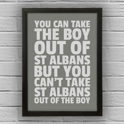 St Albans - Boy/Girl Word Wall Art Picture Poster