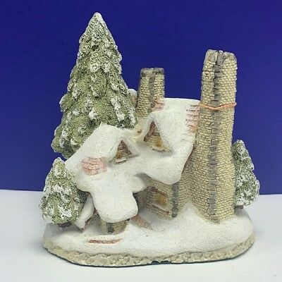 David Winter Snow cottage house sculpture figurine 1984 Hine vintage british UK