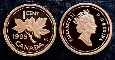 Canada 1995 Proof Gem UNC One Cent Penny!!