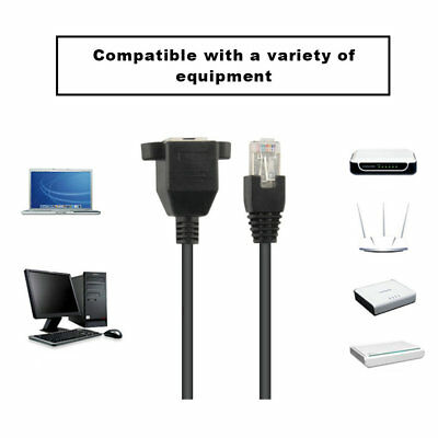 Male To Female RJ45 Ethernet LAN Network Extension Cable For Laptop For PC RY