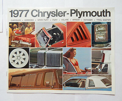 Chrysler-Plymouth Dealership Brochure (1977) Fury, Arrow, Cordoba...