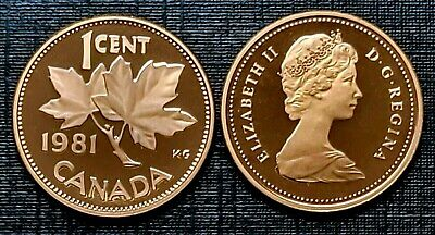 Canada 1981 Proof Gem UNC One Cent Penny!!