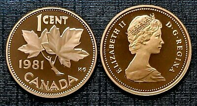 Canada 1981 Proof Gem UNC Small Cent Penny!!