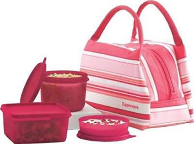 Tupperware Spring Surprise Pink Ladies Lunch Set Bag, 450ml, 500ml, 160ml Bowl