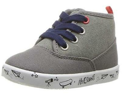 8a1a16c4499a Boy s Toddler CARTER S MACK Gray Casual Zip Lace Up High Top Sneakers Shoes  NEW