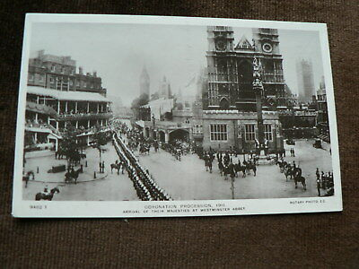 Old 1911 Photo Postcard, Coronation Procession 1911, Westminster Abbey, King