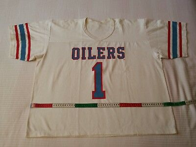 Nfl jersey, Houston Oilers 80's, no. 1 WARREN MOON