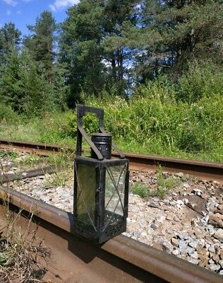 Russian railway lantern. Made in the USSR.