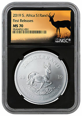 2019 South Africa 1 oz Silver Krugerrand NGC MS70 FR Black Core SKU56604