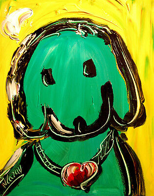 DOG Stylish Animal Figure Abstract Wall Art Oil Painting Canvas Painted New  4TY