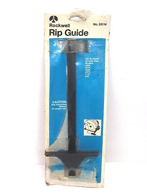 Nos! Rockwell Circular Saw Adjustable Rip Fence Guide, #53114