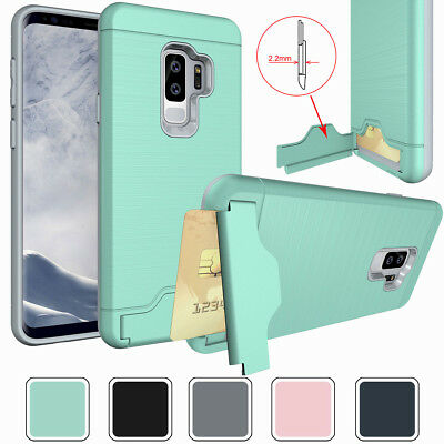 Credit Card Holder Wallet Phone Case Cover For Samsung Galaxy S7 Edge S8 S9 Plus