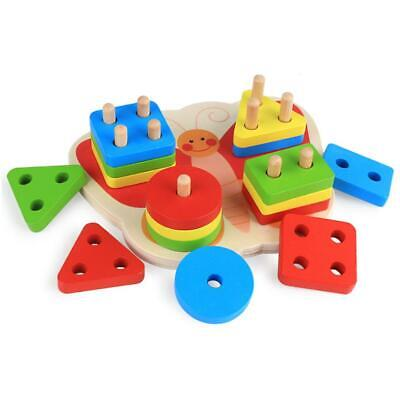 Wooden Butterfly Blocks Toddler Baby Kids Child Educational Toy Puzzle C