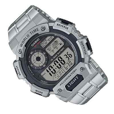 Casio Standard Digital Silver Stainless Steel Watch AE1400WHD-1A AE-1400WHD-1A