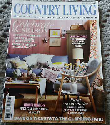 COUNTRY LIVING MAGAZINE February 2016 home garden crafts food interiors