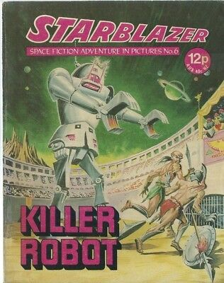 Killer Robot,no.6,starblazer Space Fiction Adventure In Pictures,comic
