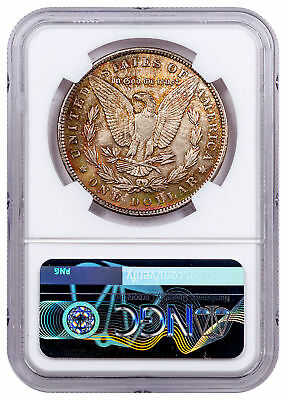 1889 Morgan Silver Dollar Rainbow Toned $1 NGC MS62 CPCR 4005 SKU56325