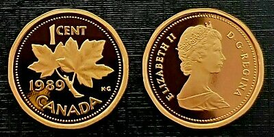 Canada 1989 Proof Gem UNC Small Cent Penny!!