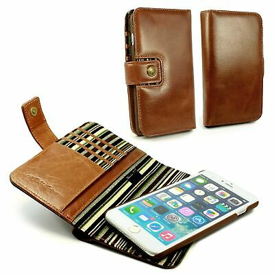 Alston Craig Genuine Leather Magnetic Wallet Case for iPhone 7 / 8 Plus Brown