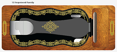 Singer Model 15 Improved Family Celtic Style  Sewing Machine Restoration Decals
