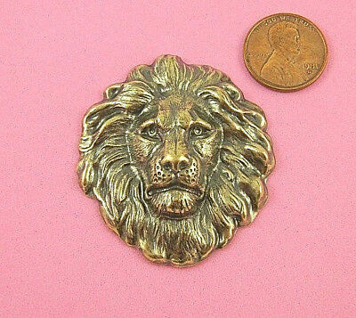 Vintage Design Antique Brass Large Lion's Head - 1 Pc