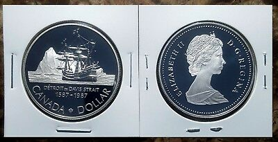 Canada 1987 Davis's North West Passage Proof Gem UNC Silver Dollar!!