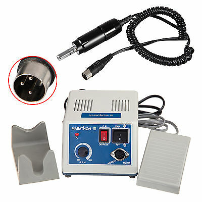 Dental Lab Marathon Electric Micromotor 35,000 rpm Handpiece Black Color FDA CA