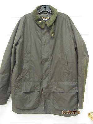 Barbour Brome Waxed Cotton Jacket Land Rover Edition Men's L Quilted Lining
