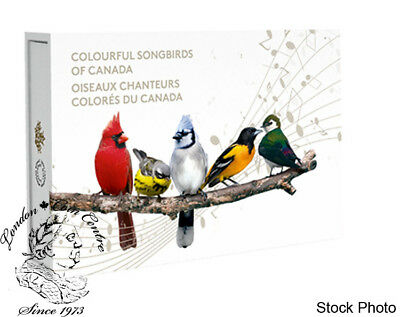 Canada 2015 $10 Colourful Songbirds of Canada 5 Silver Coin Set with Musical Box