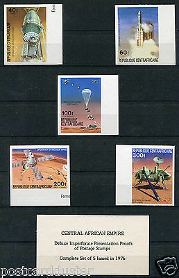 *x151- CENTRAL AFRICAN Republic 1976 Space Travel IMPERFORATE PROOFS. MNH.(3-17)