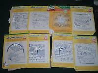 8 Vtg Lot Aunt Martha Hot Iron Embroidery Transfers Floral Pillow Cases #pf20