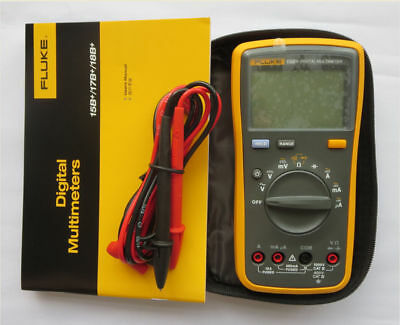 NEW True FLUKE 15B+ F15B+ Digital Multimeter w/carrying bag case AU SHIP