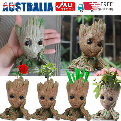 Flower Pot Baby Groot Tree Man Guardians of The Galaxy Pen Pots Holder Kids Gift
