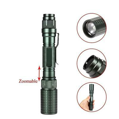 bronze 8000LM Zoomable   T6 LED Flashlight Focus Torch Lamp Light AE