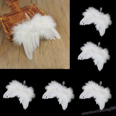 Miniature White Feather Angel Wings Small Wings Children Photography Photo Props