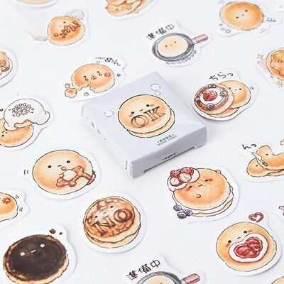 45 pcs/pack Cute Round Bread Decorative Stickers Adhesive Stickers DIY Stickers
