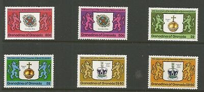 GRENADA/GRENADINES 1978  25th ANNIVERSARY OF CORONATION (6), S.G 272-274  MNH**