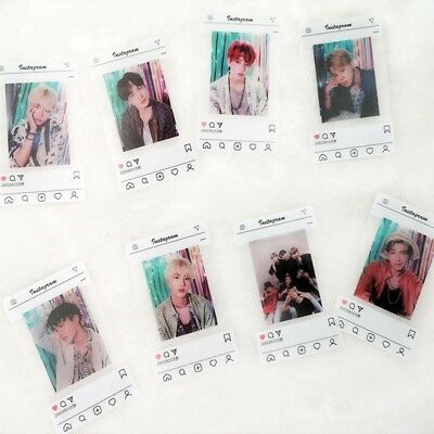 8Pcs/set KPOP BTS PVC Transparent Cards Bangtan Boys Lomo Cards Fans Gift JIMIN