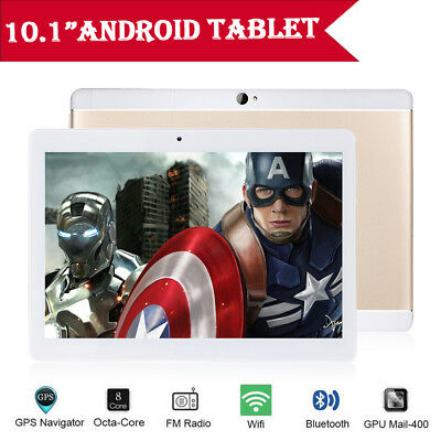 "10.1"" Tablet PC 4G+64G Android 6.0 Octa-Core Dual SIM Camera Wifi Phone Phablet"