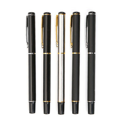 Stainless Steel Ballpoint Pen Office Ball Point Writing Student Stationery 0.7mm
