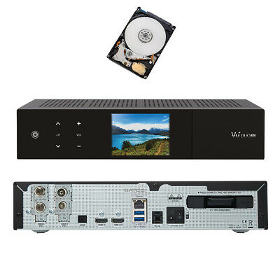 VU+ Duo 4K 1x DVB-S2X FBC Twin / 1x DVB-C FBC Tuner 1 TB HDD Receiver UHD 2160p