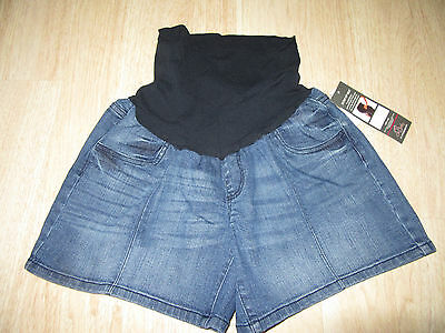 Womens Oh Baby By Motherhood Maternity Blue Denim Shorts Size L Secret Fit