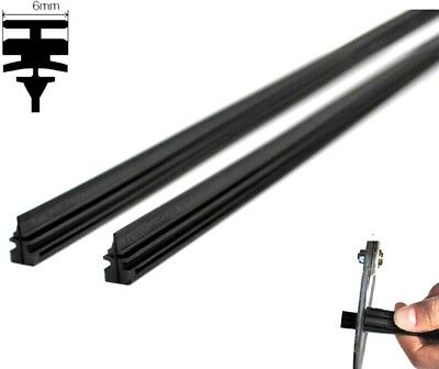 "2pcs Auto Car Bus Truck Windshield Frameless Rubber Wiper Blade Refill 28"" 6mm"