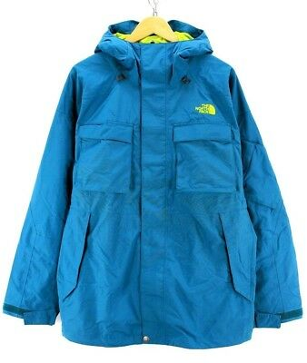 The North Face Men's Outdoor Coat Size L Green Hooded Raincoat Top quality AB178